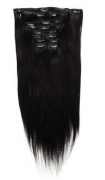 50cm 160g REMY Clip-In juuksepikendused 01 süsimust