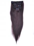 60cm 120g REMY Clip-In juuksepikendused 02 tumepruun