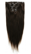 50cm 160g REMY Clip-In juuksepikendused 02 tumepruun