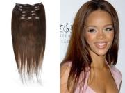 50cm 100g REMY Clip-In juuksepikendused 04 pruun