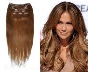 50cm 100g REMY Clip-In juuksepikendused 06 pruun