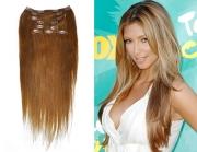50cm 100g REMY Clip-In juuksepikendused 08 pruun
