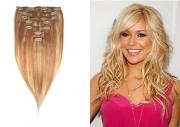 38cm 70g REMY Clip-In juuksepikendused 27/613 helepruun/blond