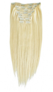 50cm 160g REMY Clip-In juuksepikendused 613 blond